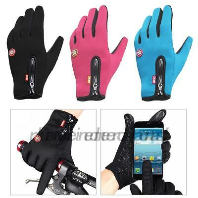 Outdoor Hiking Winter Bicycle Cycling Touch Screen Gloves Men Women Windproof UK