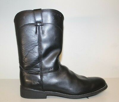 8eef69269dbf Justin Basics JB3000 Leather Cowboy Motorcycle Boots Mens Size 13 EE Black