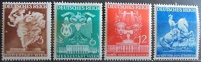 GERMANY THIRD REICH 1941 Vienna Fair Complete Set of 4 MNH