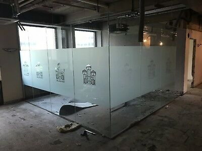 Glass Office Partition with Door.