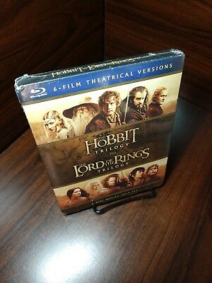 The Hobbit Trilogy and The Lord of the Rings Trilogy (Blu-ray,6 Movies)Brand NEW