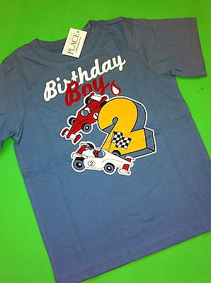 New 2nd Birthday 2 Years Baby Boys Graphic Shirt 2t Gift Blue Ss Race Tiger 3t Carters