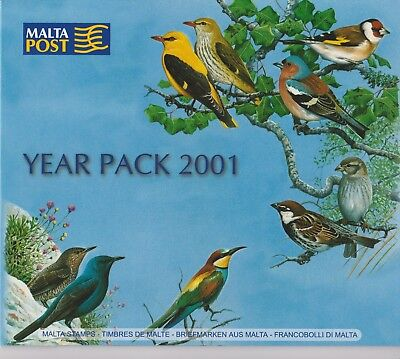 Malta Post Issued Folder of Year 2001 Stamps MNH Sc 1036-1070 & B81-B84