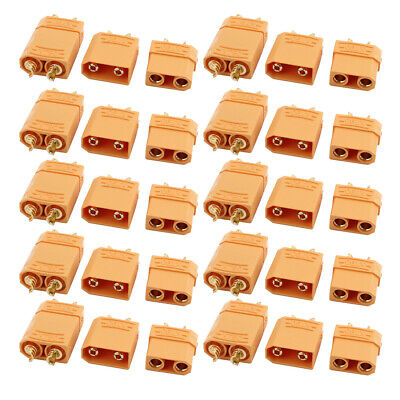 10 Pairs XT90 Male Female Plated Gold Connector for RC Lipo Battery Motor Yellow