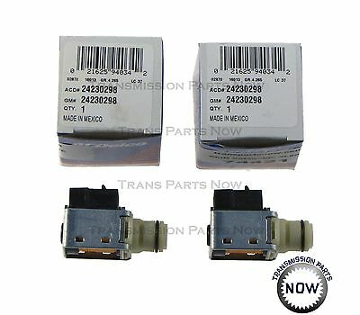 Two ACDelco GM Shift solenoid kit Original Solenoid 24230298 Chevy 4L60E 74421K