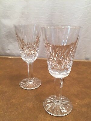 2 Waterford Lismore Crystal Sherry Wine Glasses