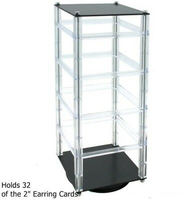 Revolving Earring Card Rack - Earring Jewelry Display (Hold 32 Earring Cards)