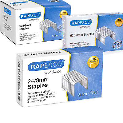 Rapesco Staples All Sizes High Quality - For All Types of Staplers Tackers