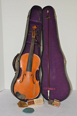 Vintage Violin — Copy of Nicolaus Amati -Made in Germany w/ Case FOR RESTORATION