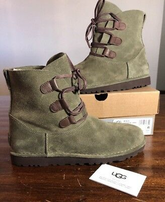 027db4dbd3b UGG ELVI WOMEN Boots Spruce Size 8 Very Nice NEW* AUTHENTIC With Box Rare  Color