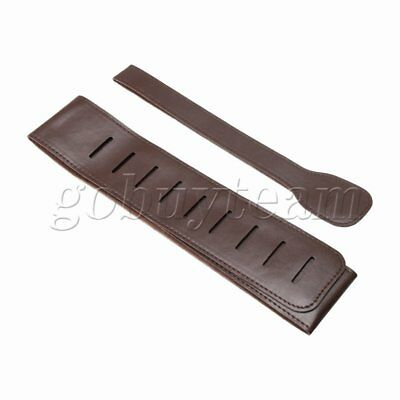 34 inch Brown Adjustable PU Leather Strap for Electric Acoustic Guitar