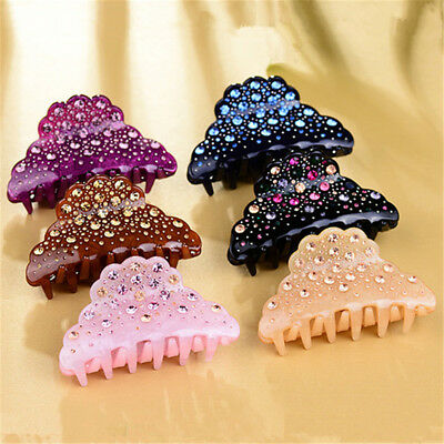Women's Large Acrylic Hair Claw Clamp Clips Star Sky Lady Fashion Rhinestone
