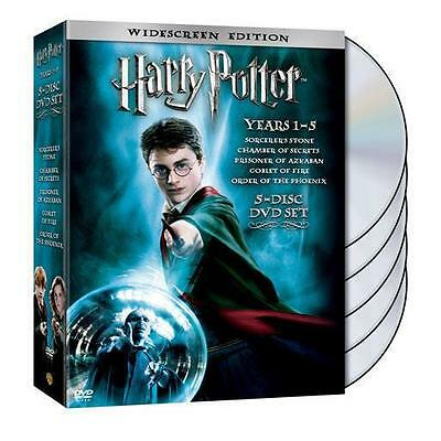 Harry Potter Years 1-5 (DVD, 2008, 5-Disc Set, Widescreen)