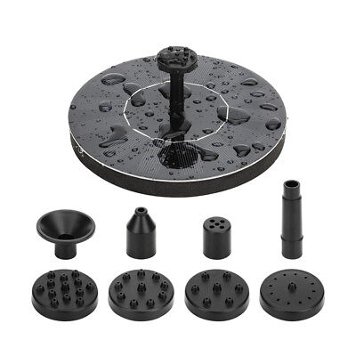 KF_ Solar Fountain Pump Kit Solar Panel Water Pump & Nozzles Pond Watering Fas