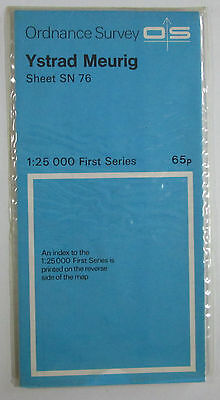 1959 Old Vintage OS Ordnance Survey 1:25000 First Series Map SN 76 Ystrad Meurig