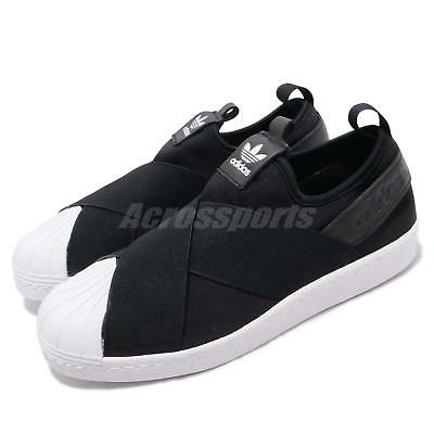 another chance b6906 5d290 adidas Originals Superstar Slip On W Black White Strap Womens Shoes S81337