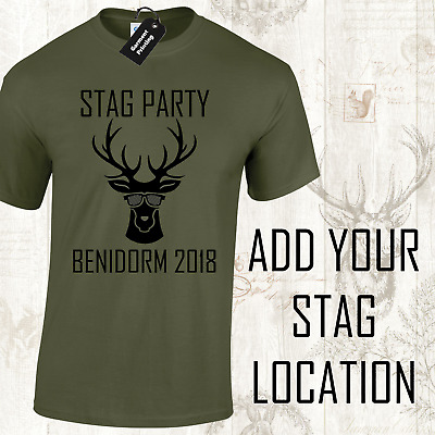 Stag Do Funny Stag Party Mens T-Shirts Customised Personalised Joke Design (D-5)