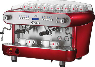 Gaggia Deco A Professional 2-group Coffee Machine Red Office Bar