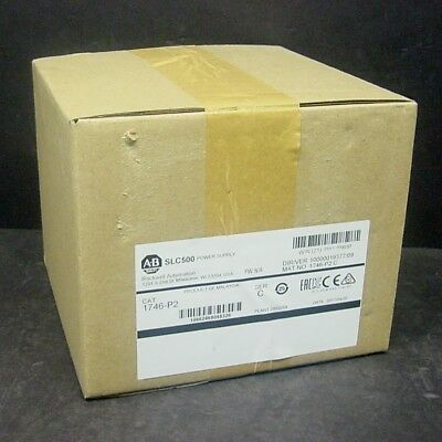 2017 New Sealed Allen Bradley 1746-P2 C SLC 500 AC Power Supply Rack Chassis PLC