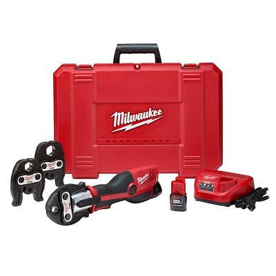 Milwaukee Force Logic Press Tool Kit 3 Jaws Included Li-Ion Cordless M12 12Volt