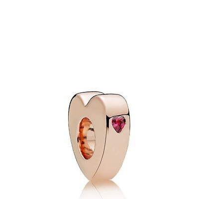 Authentic Pandora Rose Gold Two Hearts Spacer 786559CZR Charm Bead
