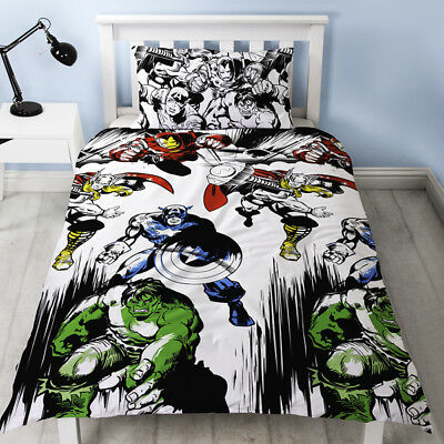 Marvel Comics Crop Unfilled Double Duvet Cover and Pillowcase Set 1 Duvet Cover and 2 Pillowcases