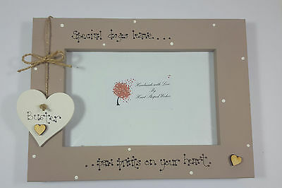 "Personalised Dog Pet Loss  ""Paw Prints on your Heart"" 4x6 Photo Frame Gift"