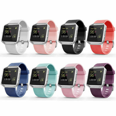 For Fitbit Blaze Replacement Classic Silicone Wristband Bracelet Band Strap CHG