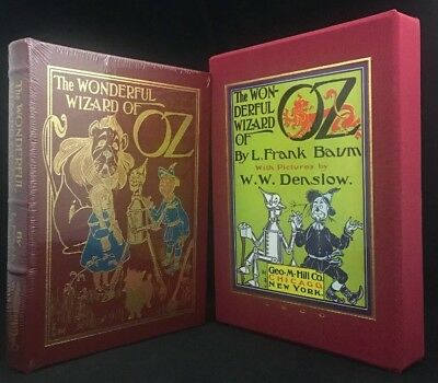 The Wonderful Wizard of Oz L Frank Baum Easton Press Leather Sealed Slipcase