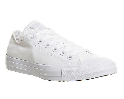 f6d37428cc437e MENS CONVERSE WHITE Textile Lace Up Trainers Size UK 8  Ex-Display ...
