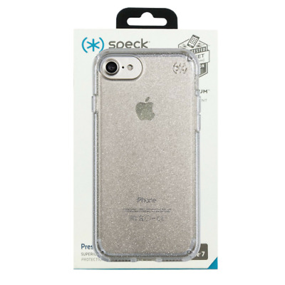 new style 2a290 44a71 CASE FOR APPLE iPhone 6/6s/7/8 Speck Presidio Clear Glitter - Gold / Clear  - LN