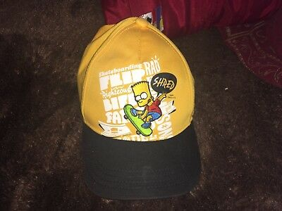 Kids Boys Official The Simpsons Summer Cap Hat With Velcro Adjustable Fastening