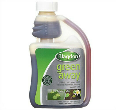 Blagdon Green Away ,  solution to green water in your garden pond ,VARIOUS SIZES