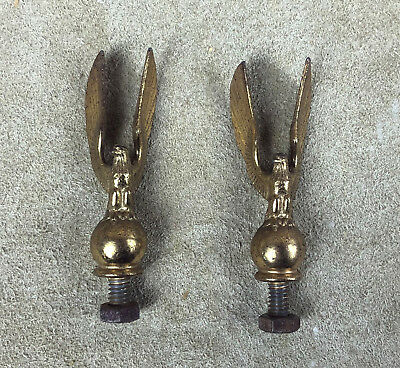 vintage BRASS EAGLE ON BALL TROPHY or CLOCK FINIALS