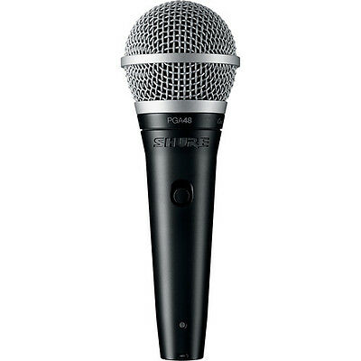 Shure PGA48-LC Cardioid Dynamic Vocal Microphone Mic w/ On-Off Switch