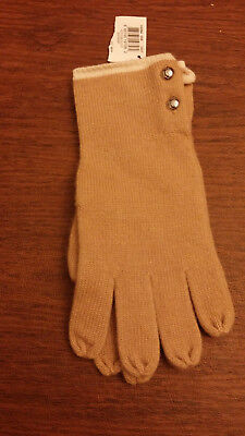 Coach Knit Gloves Beige / Women's with tags