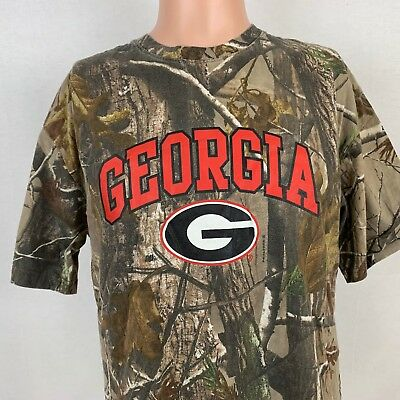 880c5bc447ad Georgia Bulldogs Mens Realtree Camo T-Shirt Size L NCAA College SEC Cotton