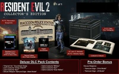 Resident Evil 2 Collector's Edition Xbox One * On-hand Ready to ship * X box 1
