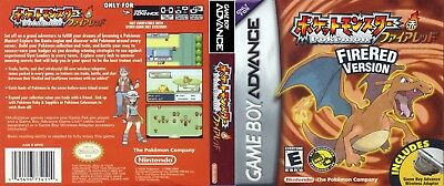 Nintendo Game Boy Advance replacement case with Cover Pokemon: FireRed Version J