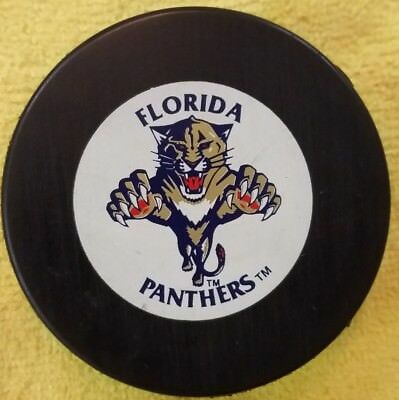 Florida Panthers Vintage Official Size Hockey Puck Nhl Trench Czechoslovakia 2e6eee6a4