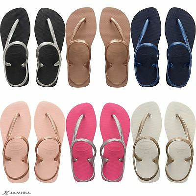 0d64ea9fe924bf HAVAIANAS FLASH URBAN Women s flip flops with Ankle Strap. New - EUR ...