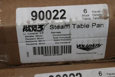 Lot of 6 - 90022 Full Size 2 1/2 in Deep Steam Table Pan