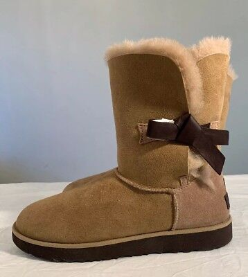 5802755e0ed UGG CLASSIC KNOT Short 1016416 Fawn Water-Resistant Woman Boot Authentic Sz  11