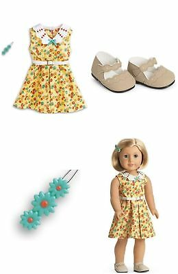 American Girl Kit's Floral Print Dress Outfit New In Box