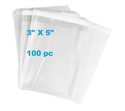 5000 Pcs 3x4 Crystal Clear Resealable Recloseable Poly Cello Cellophane Bags