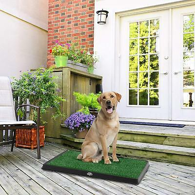 Artificial Grass Bathroom Mat for Puppies & Small Pets Portable Potty Trainer
