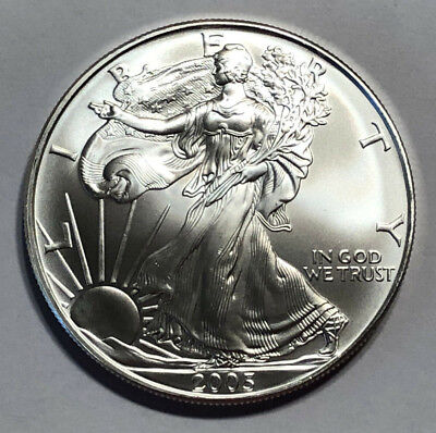 2005 1 oz Silver American Eagle $1 (Brilliant Uncirculated)