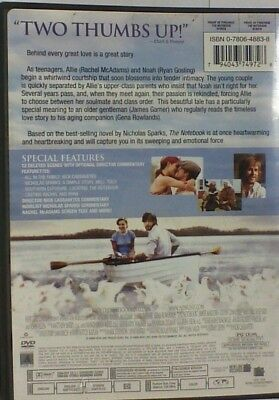 THE NOTEBOOK DVD Movie - $4 96 | PicClick