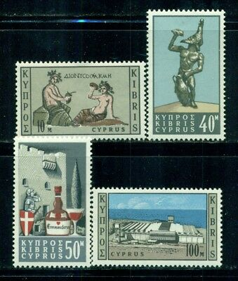 CYPRUS 247-50 SG252-55 MNH 1964 Cypriot Wine Industry set of 4 Cat$4
