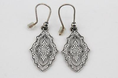 a0a2c30bc Pandora (290563CZ) Sterling Silver, Clear CZ, Sparkling Lace Hook Earrings  NEW